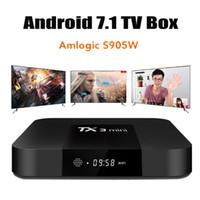 Wholesale android player tv for sale - TX3 Mini S905W GB GB Android TV BOX Amlogic Quad Core Ultra HD H K Stream Media Player Better MXQ Pro X96 mini S912