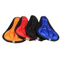 ingrosso rilievi del sedile del gel della bici-Sella per bicicletta Ciclismo MTB Bike 3D Cuscino in gel per silicone Sella copri cuscino morbido