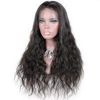 Wholesale pretty caps for women resale online - Pretty beauty unprocessed raw virgin remy human hair long natural color loose wave full lace cap wig for women