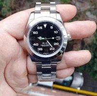 король механический оптовых-AAA 2813 белый топ люксовый бренд мужская механическая нержавеющая сталь автоматическая AIR KING мужские часы спортивные часы Self-wind наручные часы