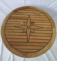 ingrosso tabelle di cerchio-Marine Boat RV Motorhome Tavolo da picchetto in teak Nautic Star Circle 3 dimensioni