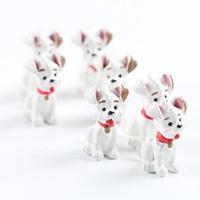 minyatür karikatür oyuncaklar toptan satış-Güzel Benekli Köpek Süs Karikatür Hayvanlar Minyatürleri Ev Masa Süslemeleri Diy Yenilik Hediye Oyuncak Doğal Reçine 0 6mj ff