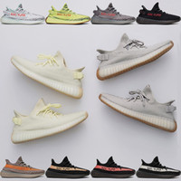 Wholesale royal blue court shoes - 2018 Butter Sesame Boost 350 Shoes Blue Tint Blue Beluga 2.0 V2 SPLY-350 Sneaker Designer Womens Mens Runing Shoes White Oreo Bred