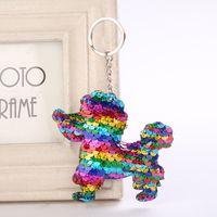 ingrosso accessori per teddy-Free DHL Teddy Ciondolo Portachiavi Paillettes cane Portachiavi Glitter Pompon Portachiavi Regali per le donne Accessori Auto Borsa Portachiavi 4 Stili H875Q