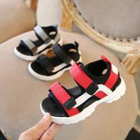 Wholesale boys crochet sandals - Children's shoes children's sandals Korean fashion ribbon casual shoes 2018 summer new boys and girls sandals