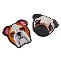Wholesale wholesale embroidered dog patches - The latest Cartoon Dog Patches for clothing iron embroidered patch applique iron on patches sewing accessories badge stick customizable
