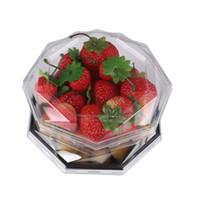 petites couvertures en plastique achat en gros de-Boîtes PET en plastique de haute qualité, petites boîtes octogonales adaptées aux légumes stockent des fruits frais recouverts de boîtes de cacahuètes octogonales
