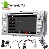 dvd gps radio ford mondeo al por mayor-2din Coche Doble Din 32 / 2GB Reproductor de video DVD de coche Android 7.1 8-core GPS Navi Radio estéreo para Ford Mondeo Bluetooth Autoradio