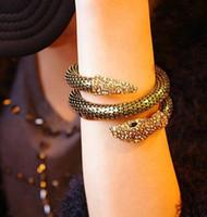 bone jewelry toptan satış-Ölümcül oyuncaklar şehir bones aus yılan yılan bilezik kavisli tıknaz streç manşet bileklik kadın moda takı için ek jewelr