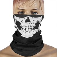 Wholesale skull full face ski mask online - CAR partment Winter D Skull Sport Mask Neck Warm Full Face Mask Windproof Dustproof Bicycle Cycling Mask Ski Snowboard Masks