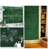 Wholesale chalkboard board - PVC Chalkboard Wall Sticker 45*200cm Erasable Chalk Board Blackboard Paster Children Room Decor New Arrive 5 2zy C
