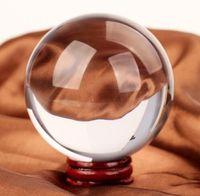 ingrosso figurine quarzo-Regali regali 40mm Rare Chiaro Pietre Naturali Feng Shui Sfera Di Cristallo E Minerali Ambra Crudo Quarzo Cristalli Figurine Regali Palla Prodotti