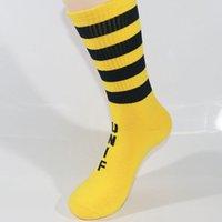 Frauen Mädchen Regenbogen Farben Streifen Socken Winter Warm Mid Cut Socken Neu