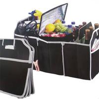 accesorios de almacenamiento de herramientas al por mayor-2018 Caja de almacenamiento para automóviles nuevos Bolsa de maletero Caja de herramientas para vehículos Herramientas de usos múltiples Bolsa de organizador Plegable Asiento trasero Organizar accesorios interiores