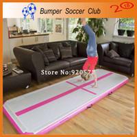 Wholesale Gymnastics Art - Free Shipping Free Pump 9.8ft 3m Inflatable Air Mat Gymnastics Air Track Taekwondo Floor Tumbling Mat Martial Arts Training Air Cushion