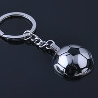 Wholesale Funny Football Soccer - Metal Sports Soccer Football Men's Novelty Trinket Keychain Keyrings - Alloy Key Chain Car Key Ring Funny Gifts wen5501