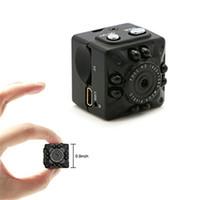 cámara de detección de movimiento mini cámara al por mayor-SQ10 Mini cámara pequeña DV Cam 1080P HD IR Visión Nocturna Detección de Movimiento Cámara Portátil de Video Deportes para Montar Car Recording