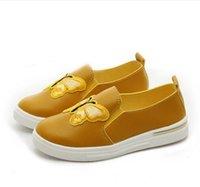calçado infantil para moda infantil venda por atacado-Crianças Calçados Meninas Bordado Borboleta Moda Sneakers Verão Outono Estilo Crianças Slip-on Causal Sapatos