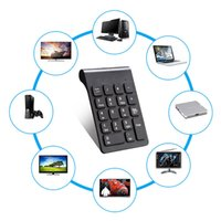 Wholesale Portable Calculators - 2.4G Wireless Digital Keyboard numeric keyboards 18 keys Bluetooth Portable Calculator for computer tablet laptop Desktop HI268