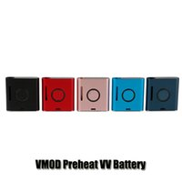 batería ajustable kit vape al por mayor-100% Original Vapmod Kit de Batería VMOD 900mAh Precalentamiento VV Batería de Voltaje Ajustable Mod Box Vape Para 510 Tanque de Cartucho de Aceite Grueso