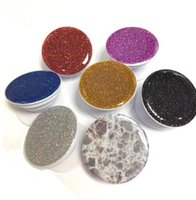 Wholesale 2018Universal Cell Phone Holder Glitter Stand Degree round Holder DHL Free