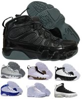 Wholesale Top China Shoes - Top 9 Basketball Shoes Mens Womens Grey 9s VIIII Bred Space Jam Olive City Of Flight GS Countdown Pinnacle Pack China Shoe Sneakers