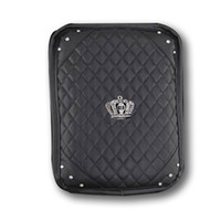 Wholesale consoles accessories for sale - Group buy PU Leather Car Armrests Box Cover Pad Crown Crystal Rhinestone Vehicle Center Console Arm Rest Box Cushion Car Accessory