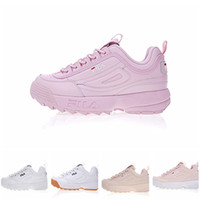 Wholesale cool shoes for women - Outdoor Sports Fila Disruptors Fashion Casual Dad shoes For Men Women Running White Black Cool Grey Luxury Sneakers