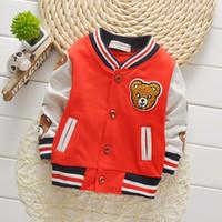 abrigos para niños pequeños al por mayor-Niños Niñas Ropa Niños Béisbol Sweatershirt Toddler Fashion Brand Jacket 2018 Primavera Otoño Bebé Outwear Para Boy Coat