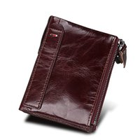 Wholesale brand mens clutch bag online - Mens Brand Wallet New Designer Tote wallet High Quality Real Leather luxury Men short Wallets for Coin purse Clutch Bags