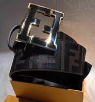 italya 38 toptan satış-F KEMER Gerçek deri seri numarası kutusu içerir İtalya'da yapılan Büyük toka Siyah Geri Dönüşümlü Kahverengi Tersinir F Kemer