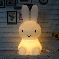 babytier nachttischlampen großhandel-50CM Dimmable Kaninchen Lampe Led Nachtlicht für Baby Kinder Kinder Geschenk Tier Cartoon Dekorative Nacht Schlafzimmer Wohnzimmer
