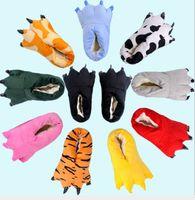 hausschuhe klauen groihandel-Damen Herren Schuhe Huaraches Turnschuhe Nette lustige Tiertatzen-Slippers Monster-Greifer-Cartoon Slipper warme weiche Plüsch-Winter-Indoor-Schuhe