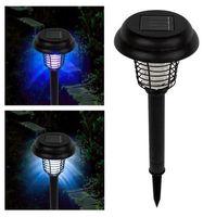 ingrosso quota di potenza esterna-Zapper alimentato ad energia solare - Enhanced Flying Flying Insect Killer Palo nel terreno - Cordless Garden Lamp LED portatile per zanzare Falene mosche