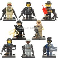 Wholesale Seals Models - 8pcs lot Military Figure Squad Navy Seal Team SWAT Army Police City Officer Building Blocks Sets Model Toys SY168 SY260