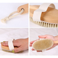 Wholesale Clean Horse - Crank Horse Mane Hair Bath Brush Long Handle Rubbing Soft hair Remove Dead Skin And Toxins Body Brush Cleaning Tools P20