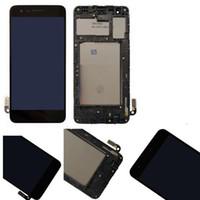 части сотового телефона оригинал оптовых-Для LG K8 2018 Aristo 2 SP200 MX210 оригинальный ЖК-дигитайзер сенсорные панели дисплей с рамкой Ассамблеи 5.0 дюймов сотовый телефон запчасти