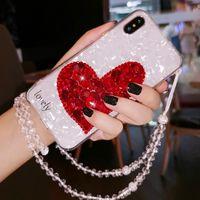 capas bonitos do telefone do diamante venda por atacado-Caso Rhinestone Bling de luxo para iphone 11 Pro Max Xs Xr X Caso bonito Telefone bonita do coração diamante para iPhone 7 8 Plus 6s 6