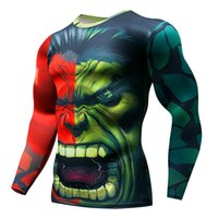 Wholesale cycle jerseys sale for sale - Group buy Hot Sale Cycling Fitness Base Layer Compression Shirt Men Anime Bodybuilding Long Sleeve Crossfit D Jersey