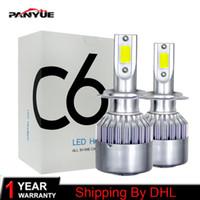 Wholesale diode bulb online - 1pairs Auto Car H8 H11 H7 H4 H1 LED Headlights K Cool white W LM COB Bulbs Diodes Automobiles Parts Lamp