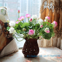 Artificial silk lotus flowers australia new featured artificial 1pcs bouquet artificial small lotus silk flower home party decoration gift f127 mightylinksfo Images
