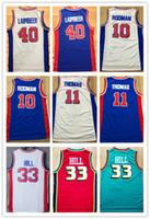 Wholesale Hills Shipping - NCAA Wholesale Free Shipping Men's Shirt #10 Dennis Rodman Jerseys,#11 Isaiah Thomas 40#Bill Laimbeer 33# Grant Hill Basketball Jersey