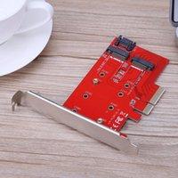 masaüstü için sabit disk toptan satış-Yeni varış Yüksek Hızlı PCI-E X4 NGFF (M.2) SSD Sabit Disk Uzatma Kartı Adaptörü Kart PC Masaüstü PCIE için Adaptör Kartı