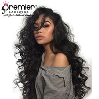 Wholesale full swiss lace human hair wigs online - 360 Full Lace Human Hair Wigs Brazilian Remy Hair Super Wave Pre plucked Bleached Knots Density Human Lace Wigs