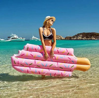 Wholesale Ice Cream Float - 2018 New ice cream float PVC water inflatable float Best partner at a beach pool.