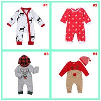 Wholesale 2018 Baby Christmas Clothes Christmas Newborn Baby Boys Girls Clothing Set Christmas Deer Long Sleeve Romper Years