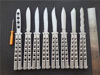 Wholesale Gifts Butterfly - Butterfly BM49 Balisong Knife Titanium Butterfly BM 42 Knife (Plain) EDC pocket knife knives New in paper box gift BM47 BM41 BM43 306L
