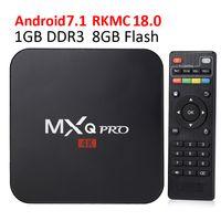 Wholesale wholesale play online - Smart TV Media Player MXQ Pro S905W TV BOX Android TV Boxes K Genuine Amlogic MXQ PRO K GB GB WiFi Lan Internet Google play box