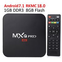 Wholesale internet tv android - Smart TV Media Player MXQ Pro S905W TV BOX Android 7.1 TV Boxes 4K Genuine Amlogic MXQ PRO 4K 1GB 8GB WiFi Lan Internet Google play box