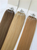 "Wholesale Micros Hair Extensions - Free Shipping 12""-24' 100G Bag Silicone 100% Remy Peruvian Micro Ring Hair Loop Hair Extensions"